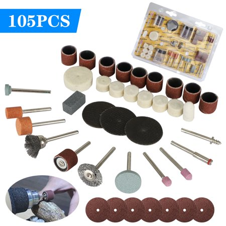 105pcs Rotary Tool Accessories Set Electric Grinding Attachment Kit, Multi Rotary Tool Accessories Set Grinding Polishing Drilling Kits for Dremel