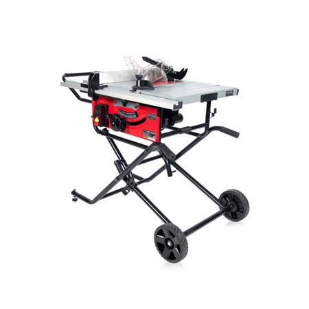 10 in. Bench Top & Portable Table Saw On Wheels