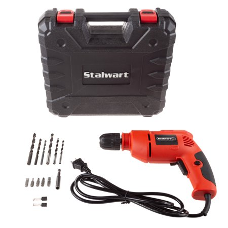 Stalwart Electric Power Drill with 6-Foot Cord – Variable Speed, Reversable Wired Screwdriver