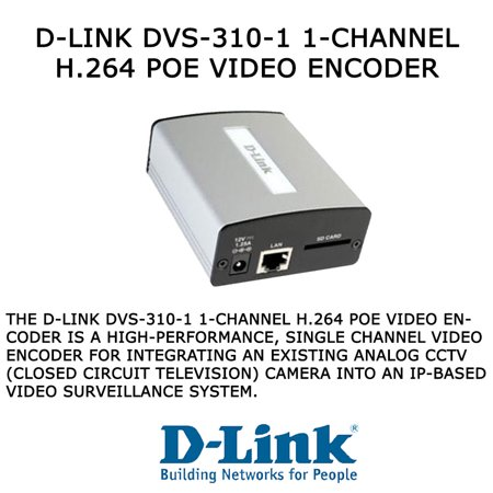 D-Link DVS-310-1 1-Channel H.264 PoE Video Encoder