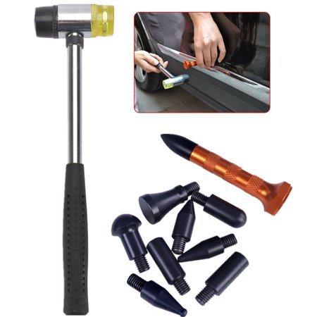 Paintless Dent Repair Tools Tap Down Kits w/ Rubber Hammer for Car Auto Body Dent Hail Damage Removal