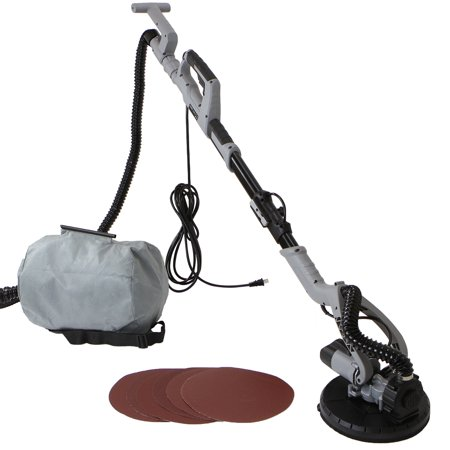 XtremepowerUS 750W 6-Speed Dustless Vacuum Drywall Sander, with 6PC Sand Paper