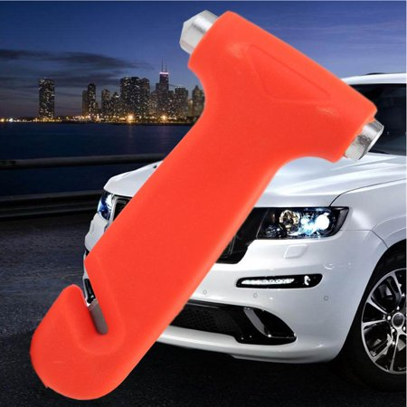 2 in 1 Car Emergency Safety Escape Hammer Glass Window Breaker Belt Home Tool