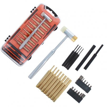 ASR Outdoor Gunsmiting Tools Brass Punch Set with Gunsmithing Hammer, 26pc Gun Smithing Tools Kit