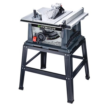 Genesis GTS10SB 10″ Gray & Silver Table Saw With Stand