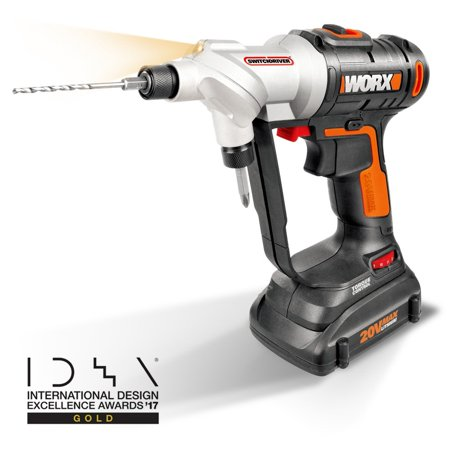 WORX 20-Volt Max* Power Share, Switchdriver Drill-Driver, 1/4-Inch Hex Quick-Change Chuck, (2) 1, WX176L,