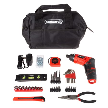 3.6V Cordless Drill with Rechargeable Battery and 121 Piece Accessory Set by Stalwart