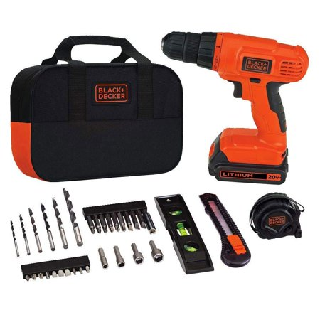 Black & Decker BDCD120VA 20V Max Lithium Ion Drill Driver Project Kit w/ Charger