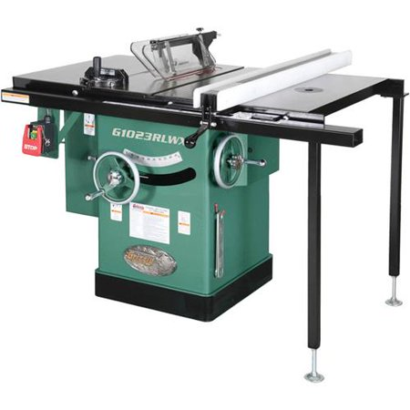 Grizzly Industrial G1023RLWX 10″ 5 HP 240V Cabinet Left-Tilting Table Saw